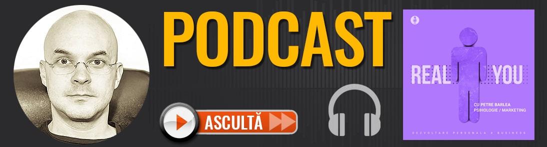 Coperta Podcast The Real You cu Petre Barlea