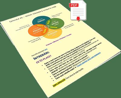 Document PDF cu intrebari despre scopul vietii