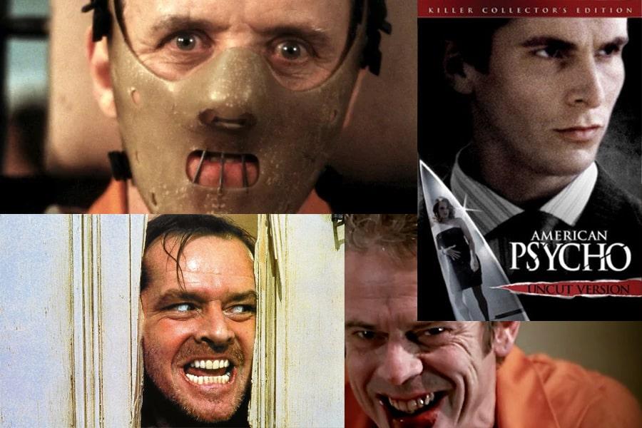 Psihopatii din filmele de la Hollywood - Hanibal Lecter, American Psycho, omul din The Shining, Criminalul din Criminal Minds